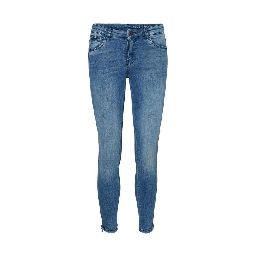 noisy may kimmy denim ankle zip jeans