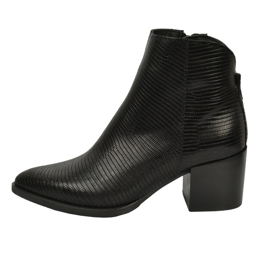 ALPE 4265 TEXTURED ANKLE BOOTS