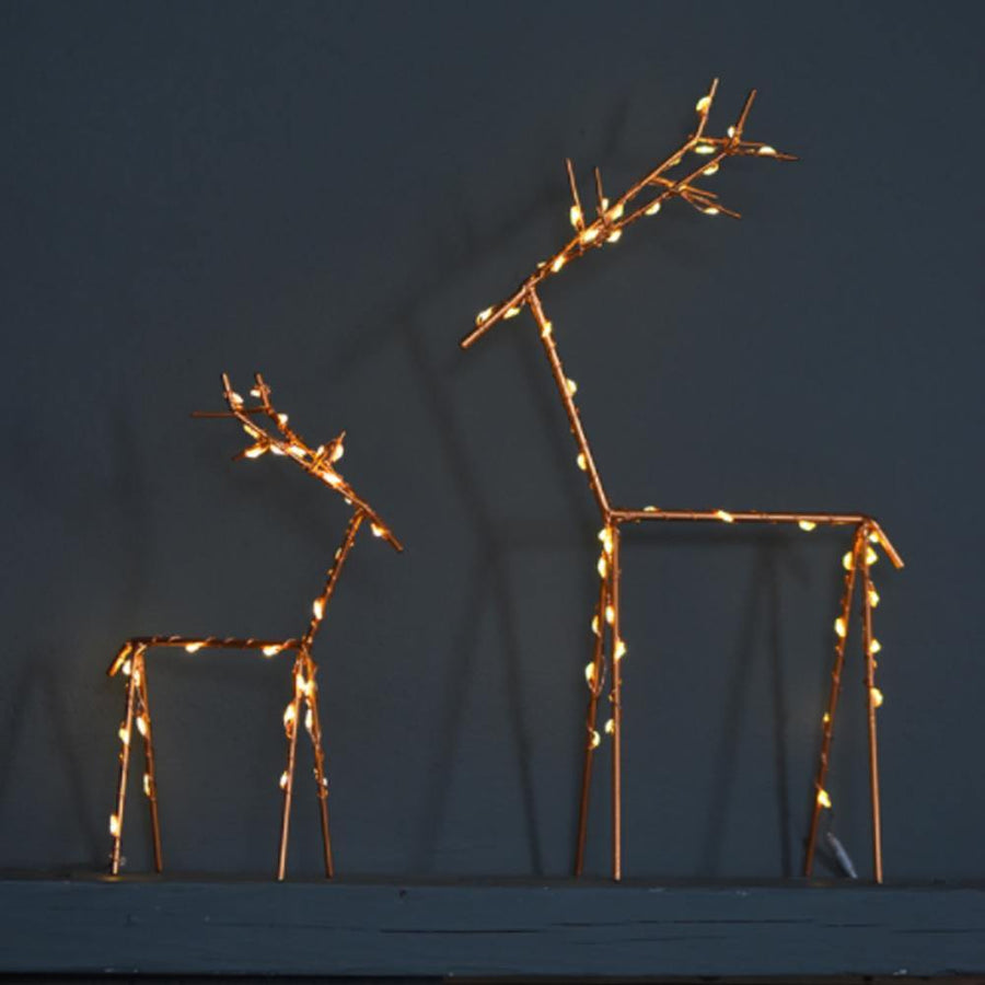 LARGE COPPER DEER LIGHT