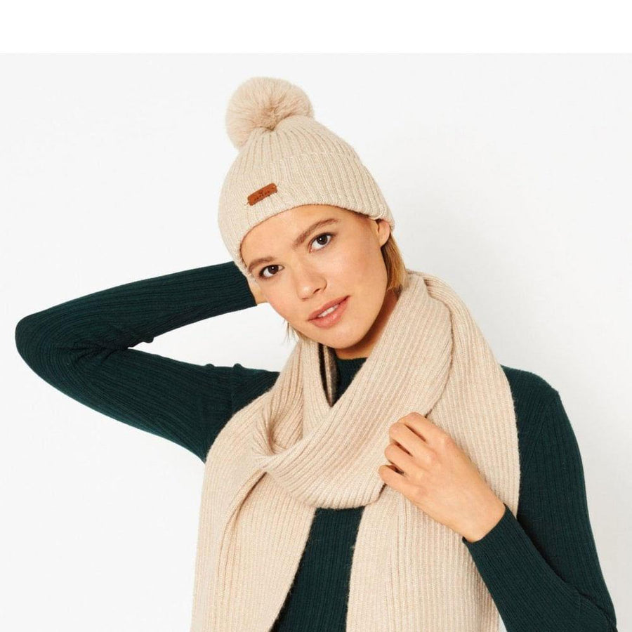 jayley wool faux fur pom pom hat - JAVELIN