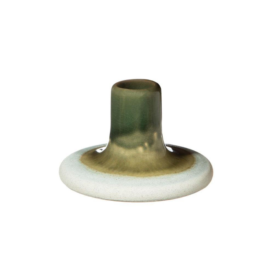 mojave glaze green candle holder