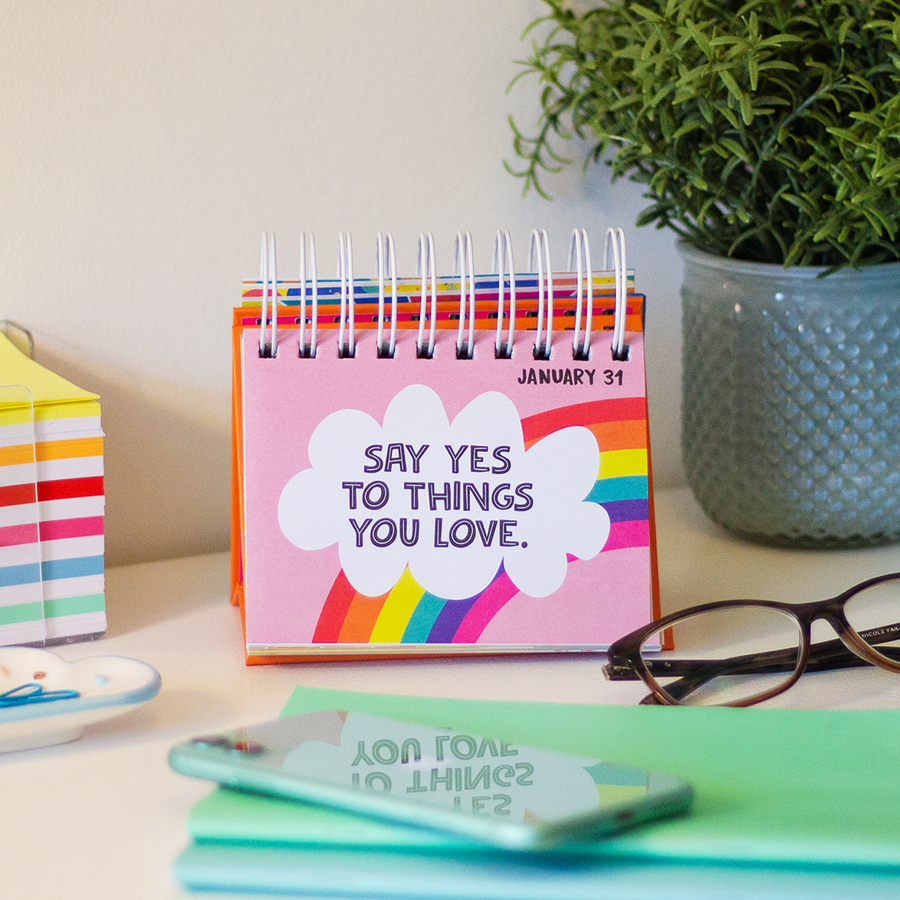 choose happy quote desk easel