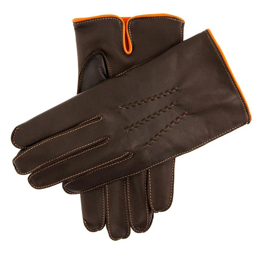 DENTS LEATHER GLOVE CONTRAST EDGING - JAVELIN
