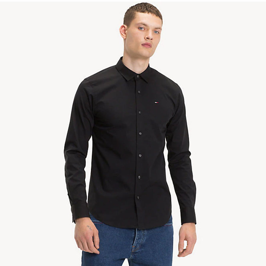 tommy jeans original stretch slim fit shirt - JAVELIN