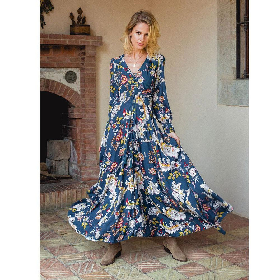 WAYLON PRINT INDIANA MAXI DRESS