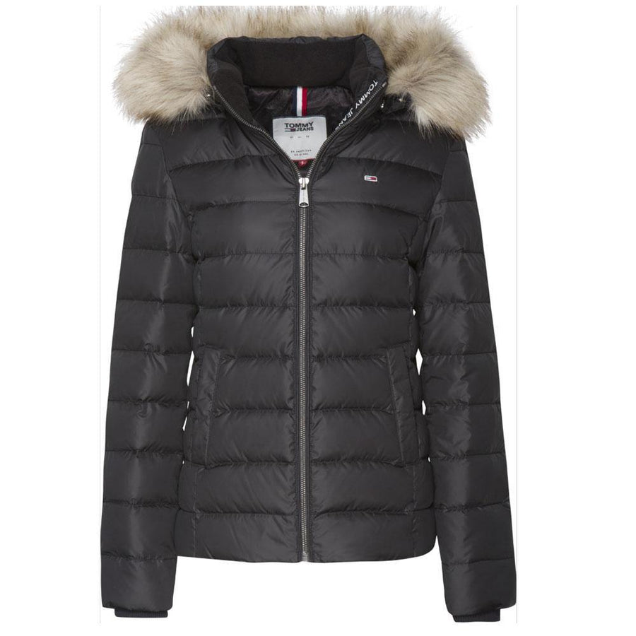 tommy jeans essential hooded down jacket - JAVELIN