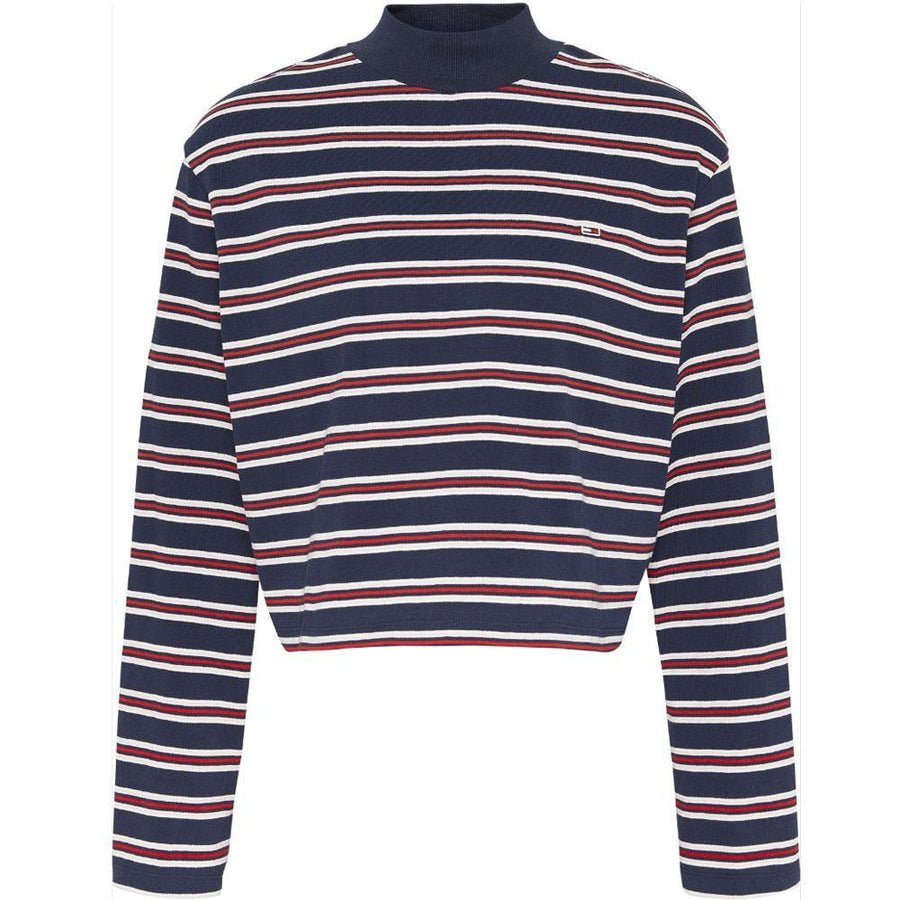 tommy jeans striped hybrid top - JAVELIN
