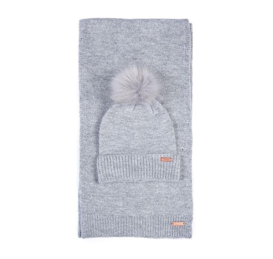 barbour intl. sparkle beanie & scarf set