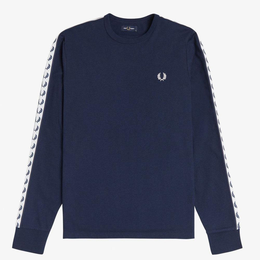 fred perry taped long sleeve t-shirt - JAVELIN