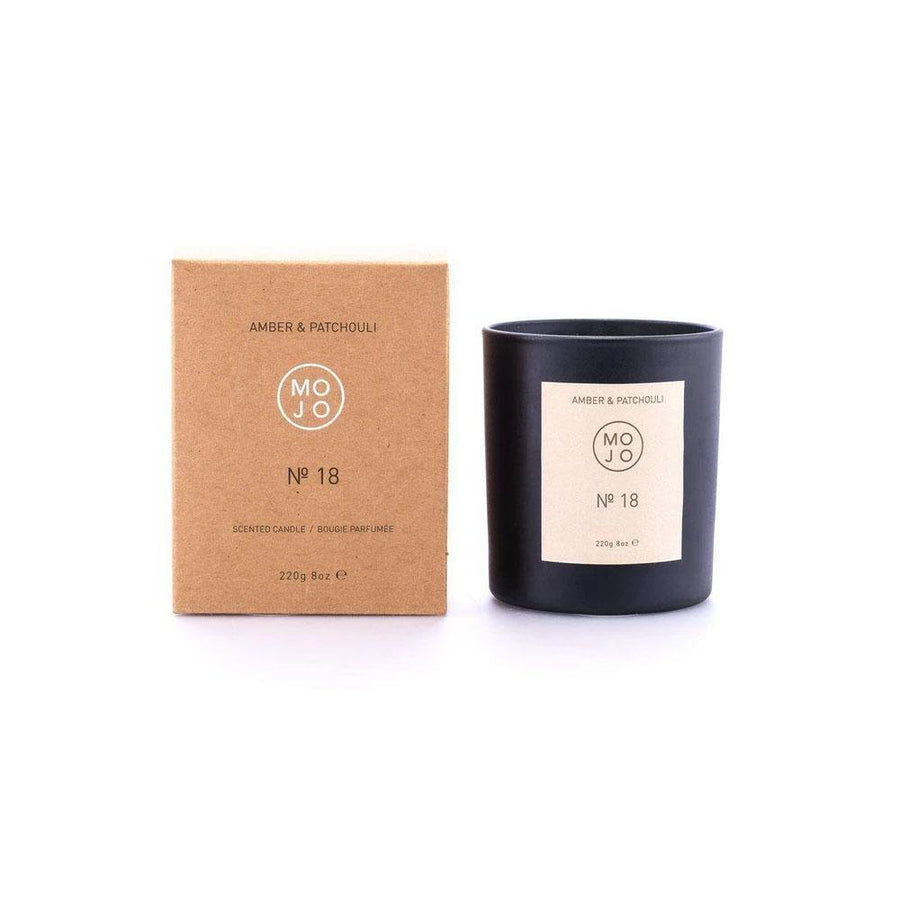 MOJO AMBER AND PATCHOULI CANDLE NO 18