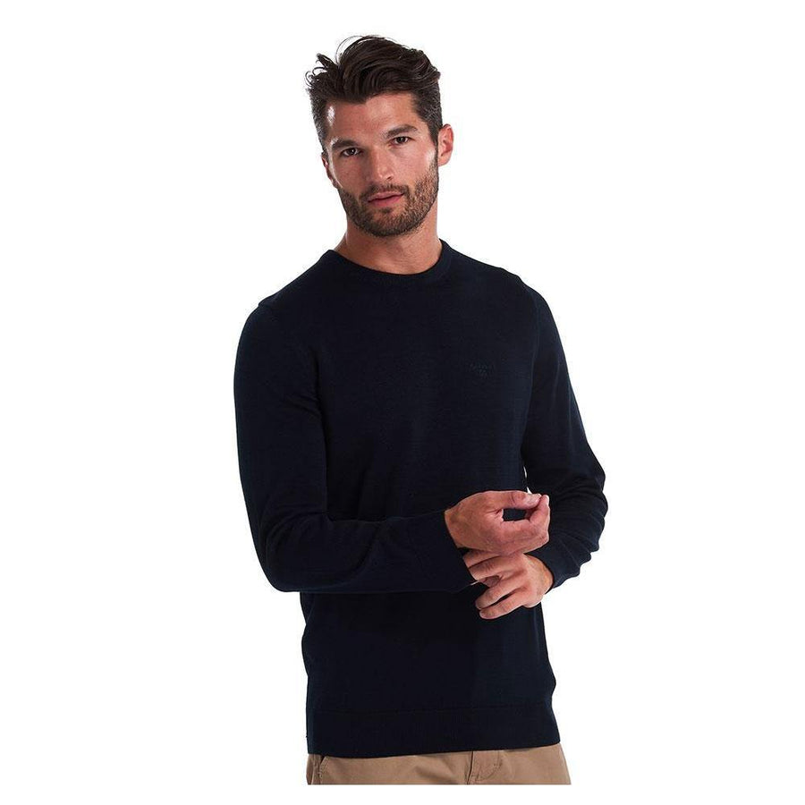 Barbour pima cotton crew neck sweater - JAVELIN