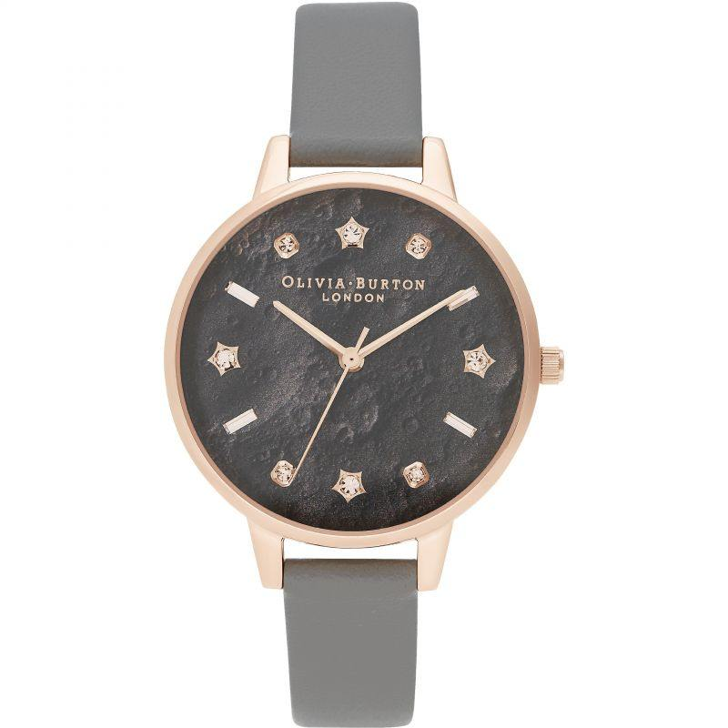 olivia burton celestial star moon dial vegan watch