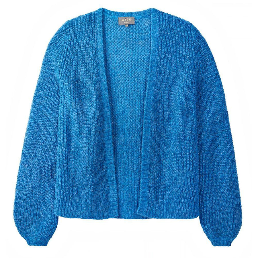 wyse london angelina lurex rib cardigan