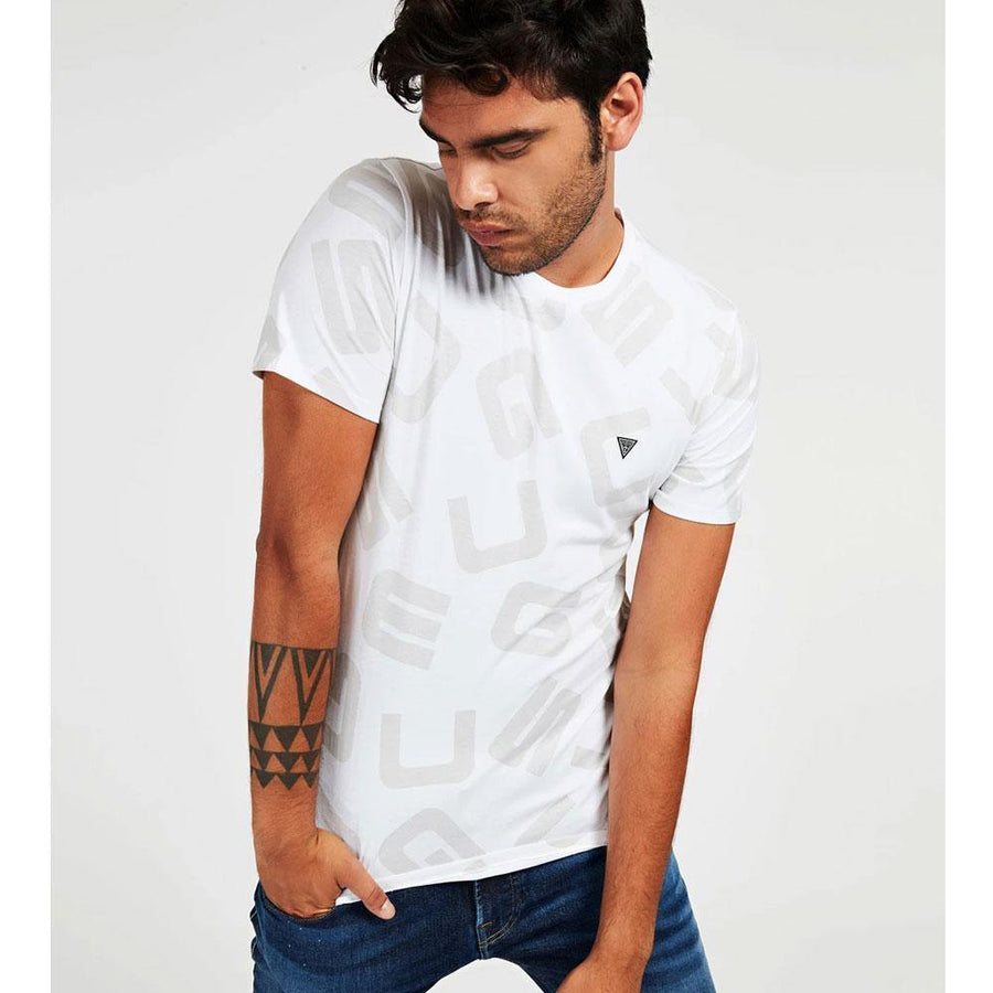 guess all over logo t-shirt - JAVELIN