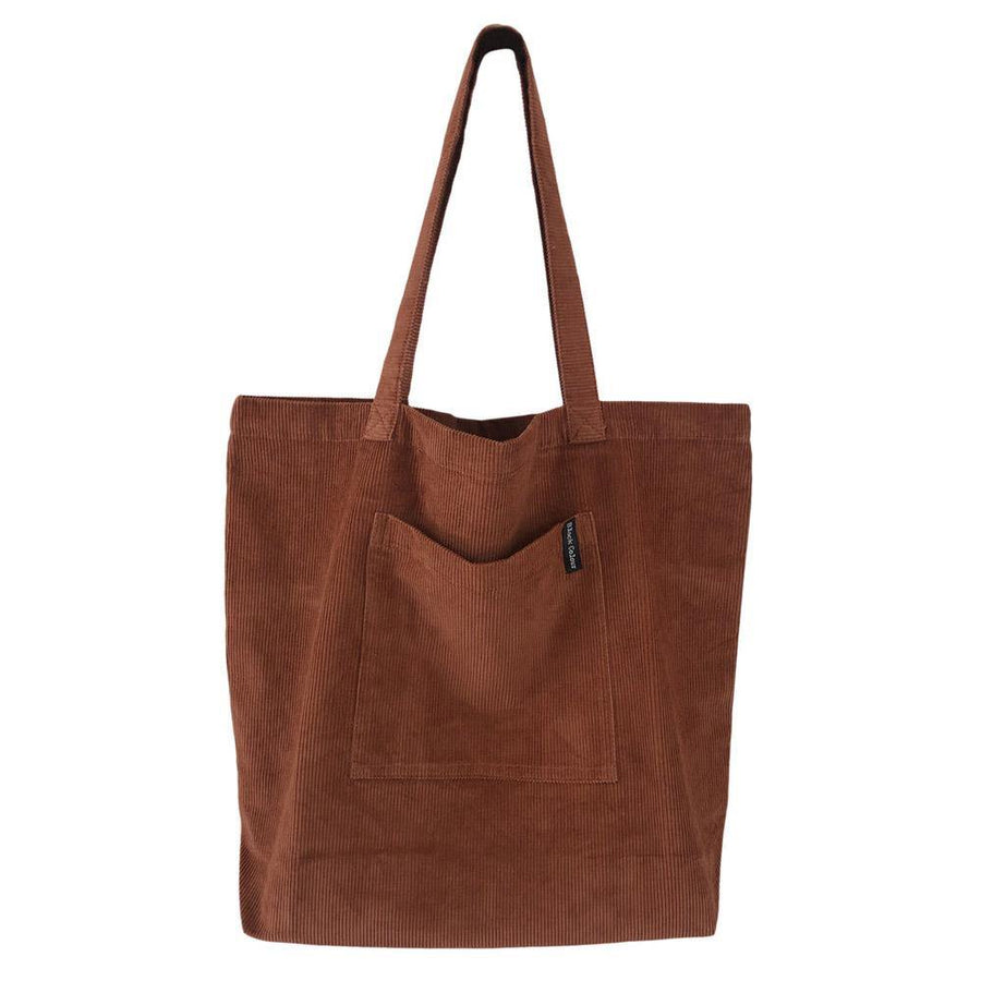 black colour cory corduroy shopper