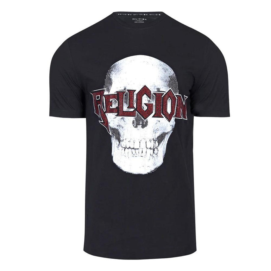 religion skeleton bling t-shirt - JAVELIN
