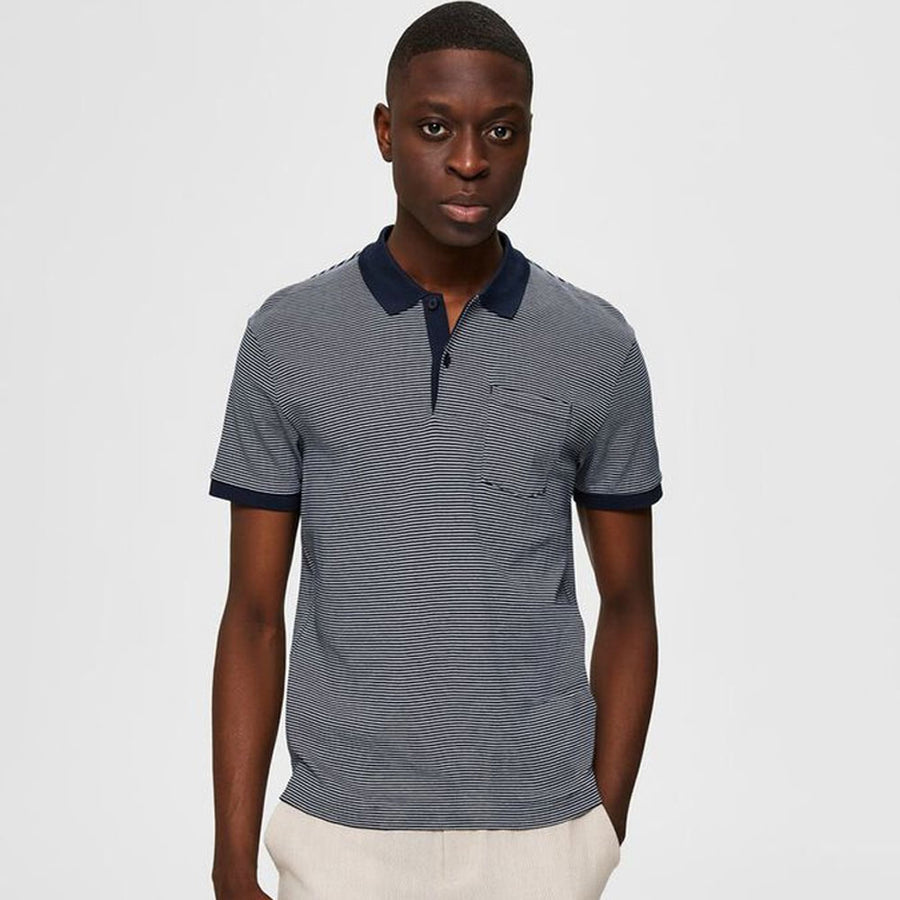 selected brighton ss  polo shirt - JAVELIN