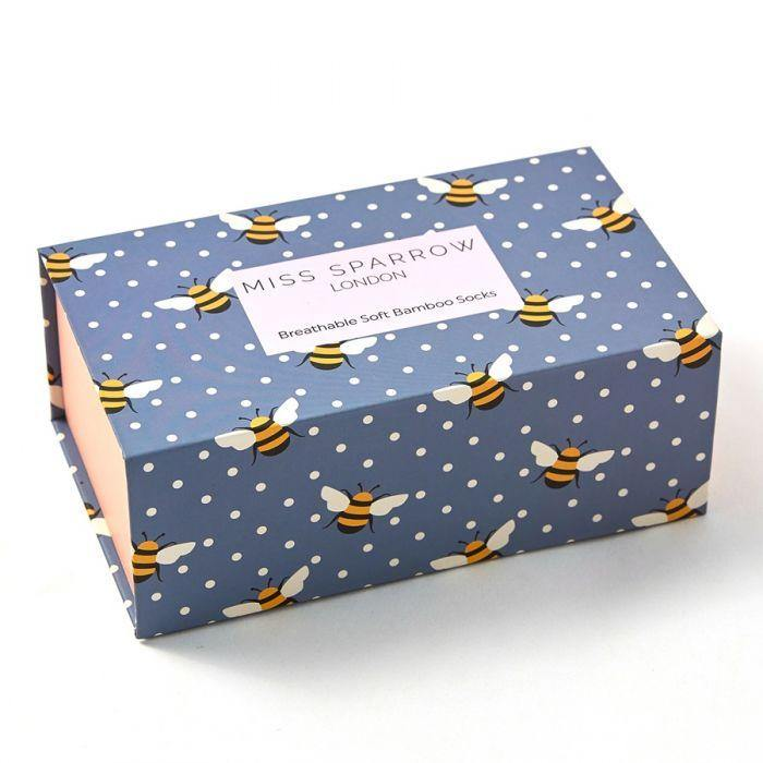 miss sparrow bumble bees sock box