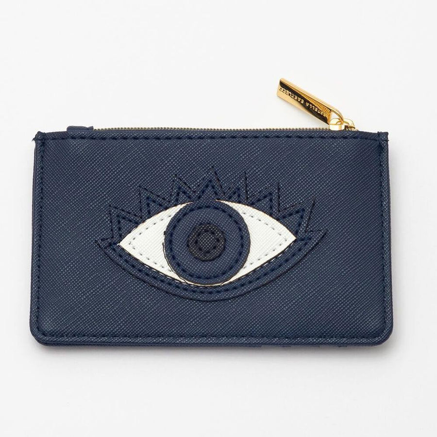 ESTELLA BARTLETT LUCKY EYE APPLIQUE CARD PURSE - JAVELIN