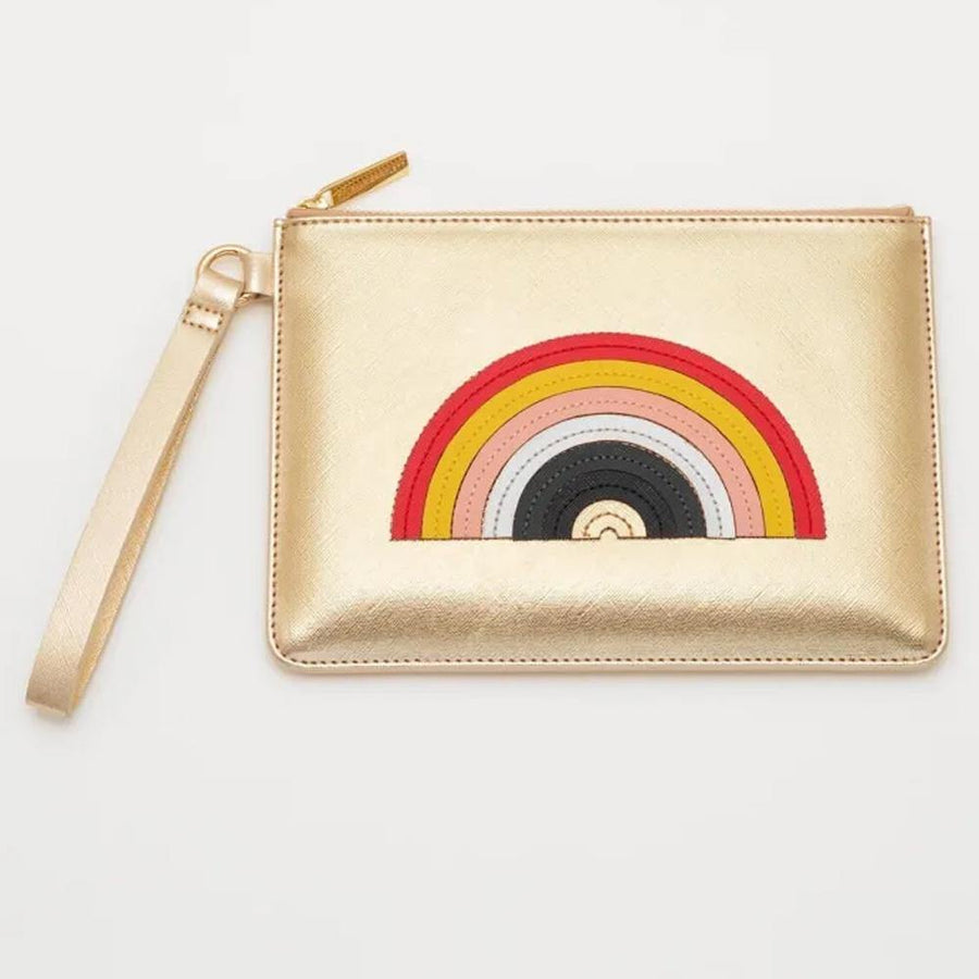 ESTELLA BARTLETT RAINBOW APPLIQUE MEDIUM POUCH