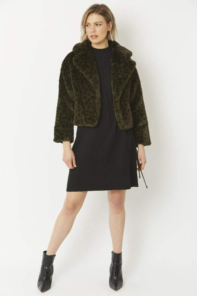jayley faux fur cropped jacket - JAVELIN