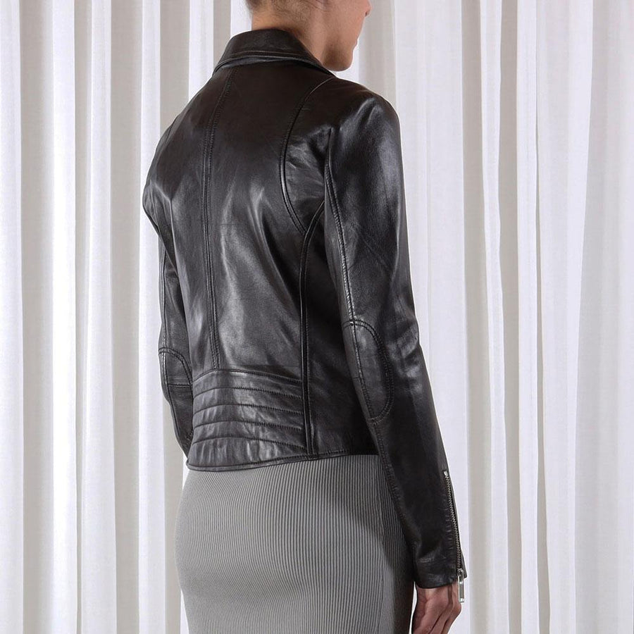 rino and pelle ghost leather biker jacket