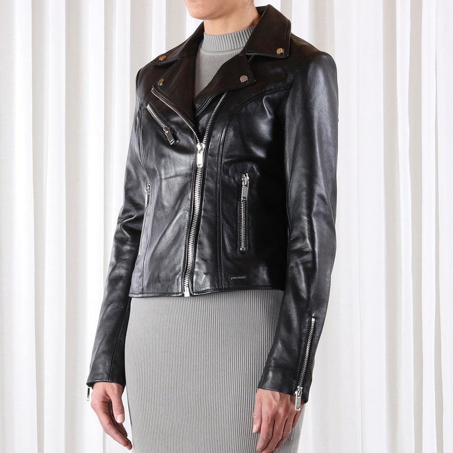 rino and pelle ghost leather biker jacket - JAVELIN