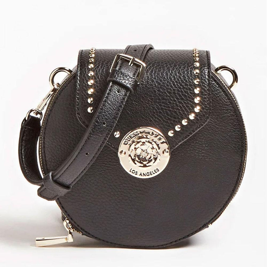 guess belle isle studded crossbody bag