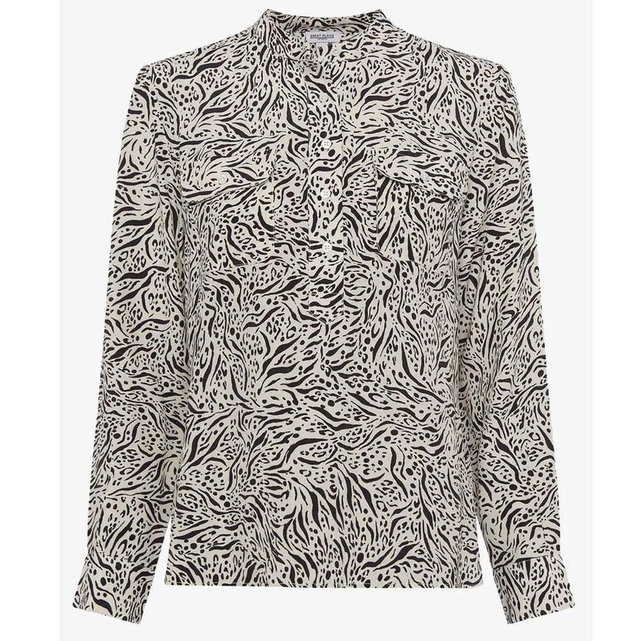 great plains javan print top