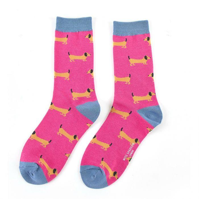miss sparrow sausage dog socks