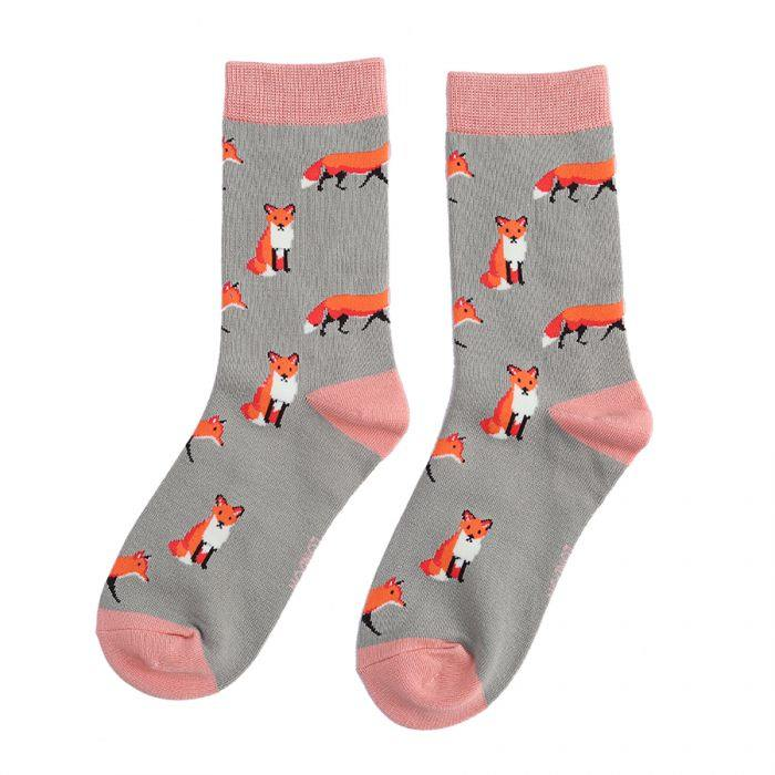 miss sparrow foxes sock