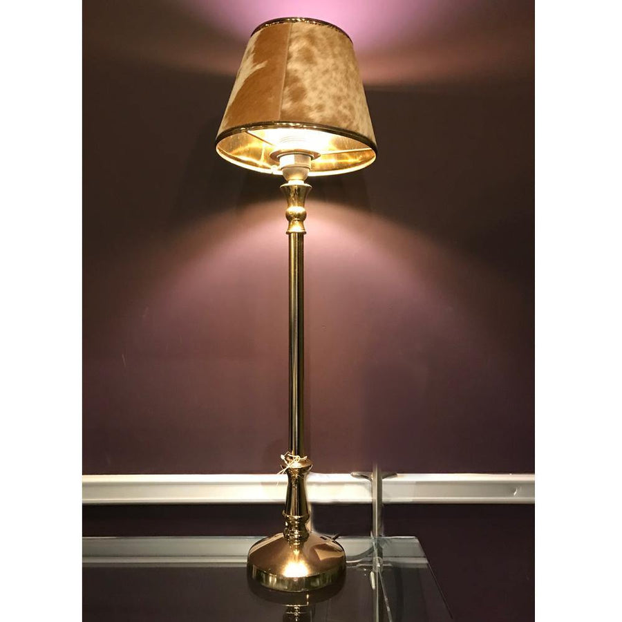 lamp with hide shade