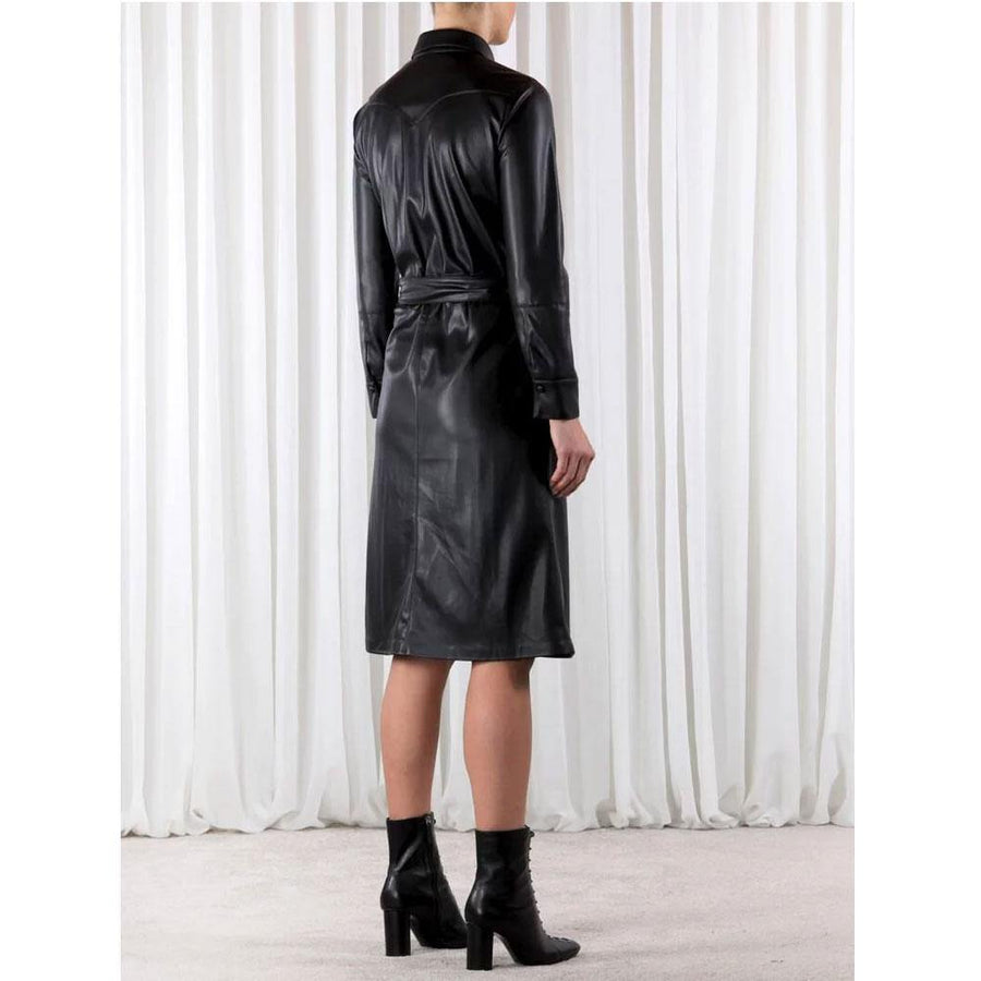 rino and pelle sandon vegan leather dress