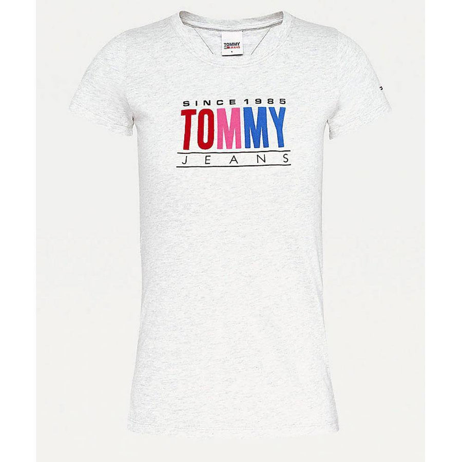 tommy jeans multi coloured logo t-shirt