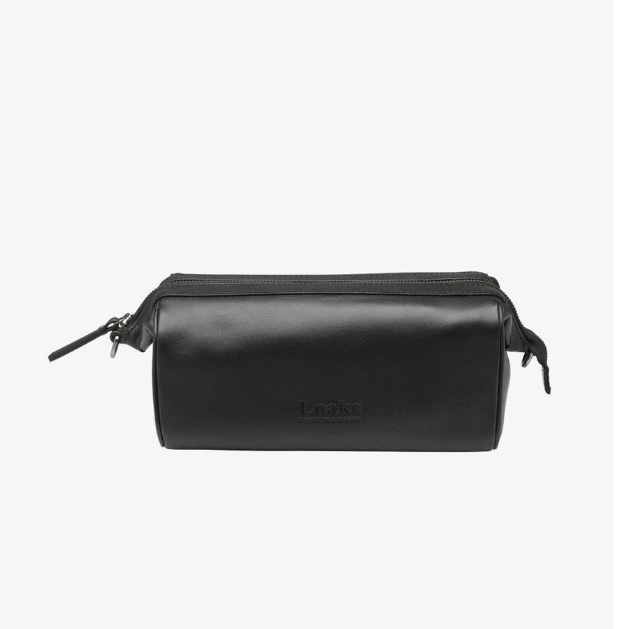 loake thames wash bag black