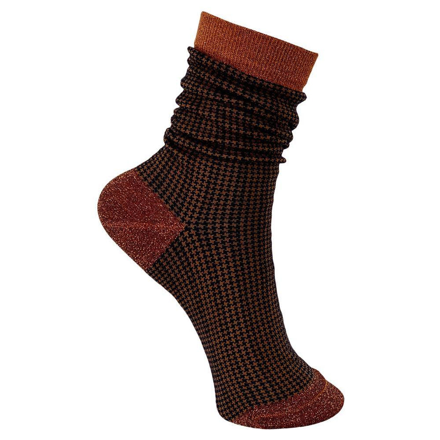 black colour wales check sock