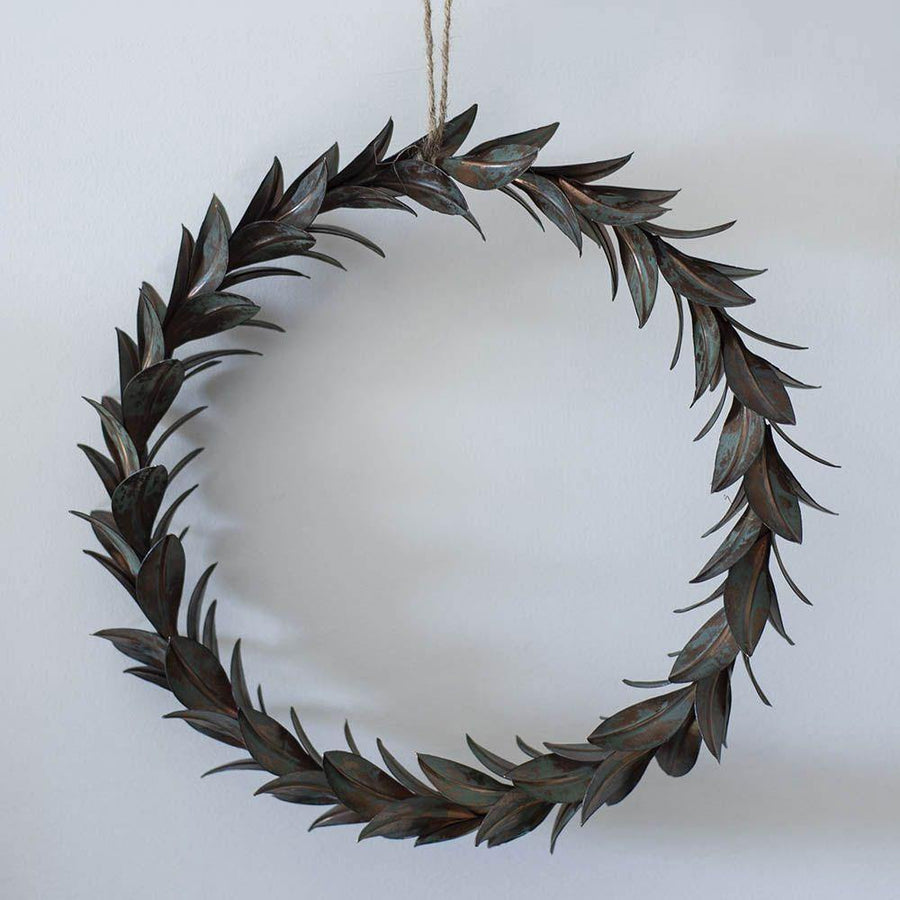 wreath of leaves vintage 28cm