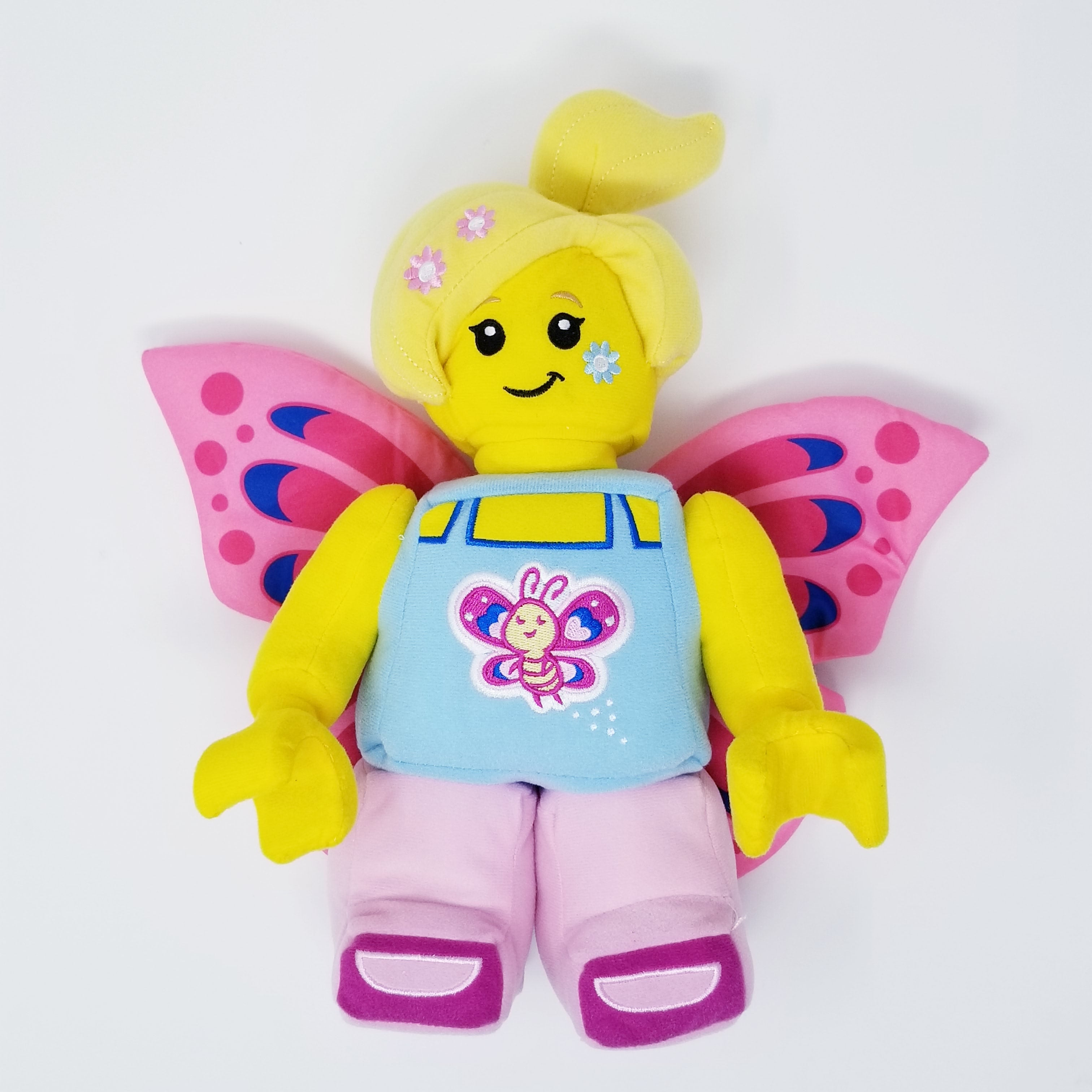 Lego Minifigure butterfly girl with heart on torso