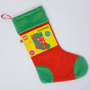 GREEN LEGO® BRICK STOCKING