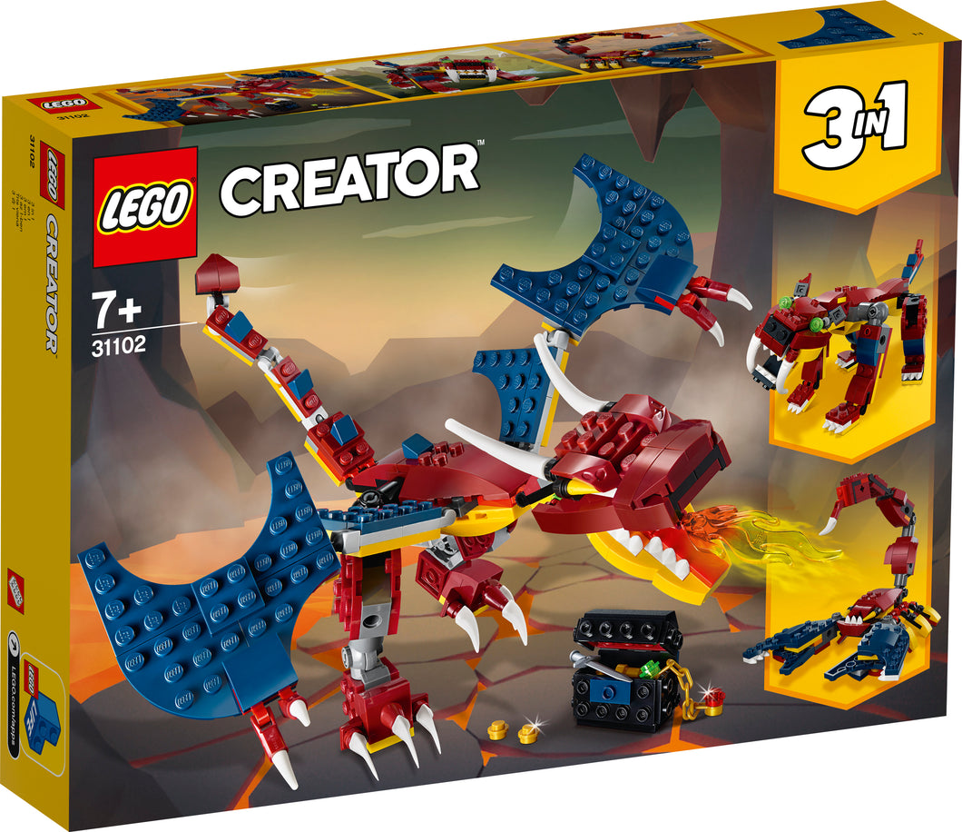LEGO® CREATOR 3-in-1 Fire Dragon - 31102
