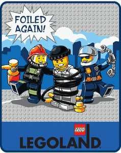 LEGO® CITY Foiled Again Plush Throw
