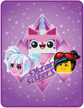 Load image into Gallery viewer, EXCLUSIVE! LEGO® MOVIE 2™ SYSTAR SISTERHOOD PLUSH THROW