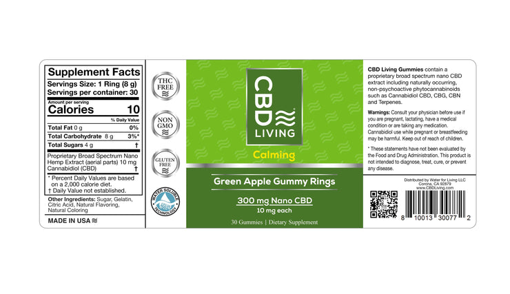 CBD Gummy Rings - Green Apple