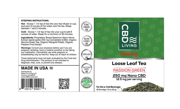 CBD Tea - Passion Green 250 mg