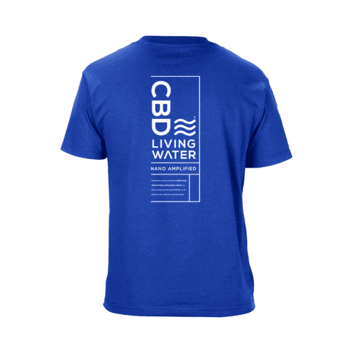 CBD Living T-Shirts – Royal Blue