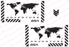 BMW GSA Adventure Motorcycle Reflective Decal Kit World Adventure Chevron for Touratech Panniers