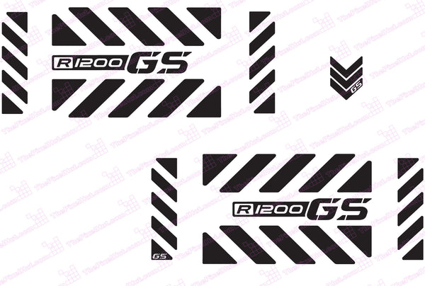 BMW R1200 GS Motorcycle Reflective Decal Kit GS Chevrons