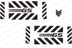 BMW R1200 GS Motorcycle Reflective Decal Kit GS Large Chevrons for Touratech Panniers