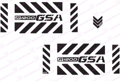 "BMW R1200 GSA Adventure Motorcycle Reflective Decal Kit ""Large Chevrons"" for Touratech Panniers"