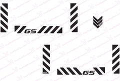 BMW GS Motorcycle Reflective Decal Kit GS Chevrons for Touratech Panniers